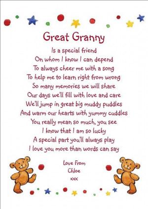 Mothers Day Quotes And Poems For Grandma ~ Great Grandma Quotes/poems ...