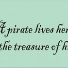 Stencil pirate love romantic treasure 12.75 x 5.25 inches