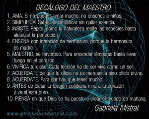 Frases al maestro 10 Gabriela Mistral