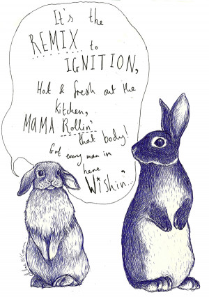 IGNITIONA lop-eared rabbit serenading another rabbit with an R Kelly ...