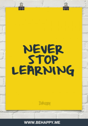 Never stop learning #2144