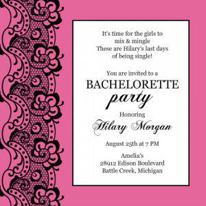 bachelorette invitation wording template ruXiitVW