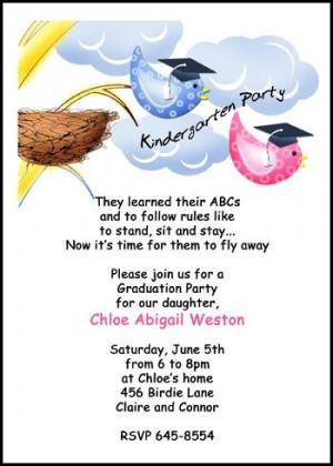 Customize Your Preschool and Kindergarten Graduation Party Invitations ...