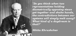 From Nikita Khrushchev...