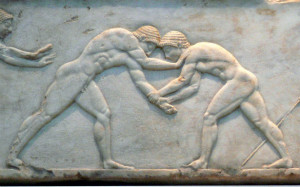 ancient greek olympics wrestling
