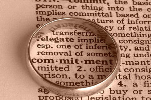 ... am definitely BIG on commitment in marriage. It's essential
