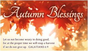 Autumn Blessings Ecard
