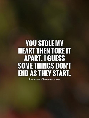 You Stole My Heart Quotes