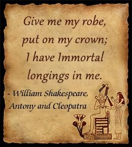... have Immortal longings in me.