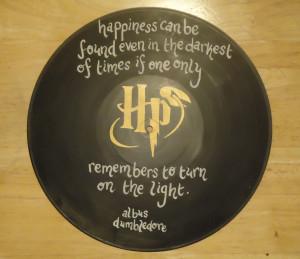 Albus Dumbledore Quote Painted Vinyl Record