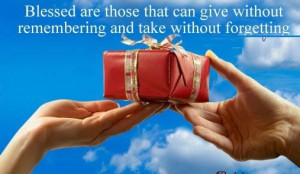 Giving a gift quote