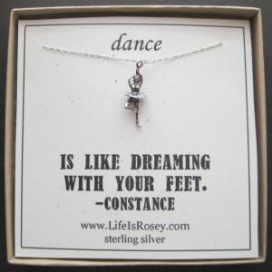 Ballet Necklace - Dance Gift - Ballet Jewelry - Recital Gift - Ballet ...