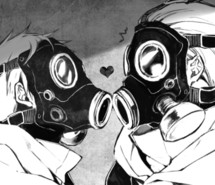 Anime Girl Wallpaper Gas Mask