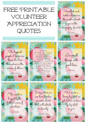 quotes 11 magnolia lane free printable volunteer appreciation quotes ...