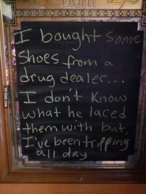 shoes from a drug dealer
