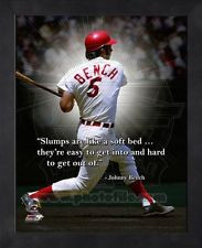 Johnny Bench Cincinnati Reds MLB Pro Quotes Photo 12