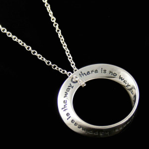 ... Happiness Happiness is the Way, Inspirational Quote Necklace Jewelry