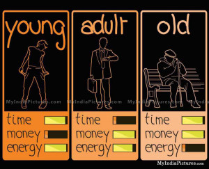 Time Money Energy and Young Adult Old Life Stages