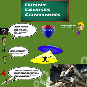 Funny Homework Excuses...