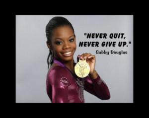 Gymnastics Poster Gabby Douglas Oly mpic Champion Gymnast Photo Quote ...