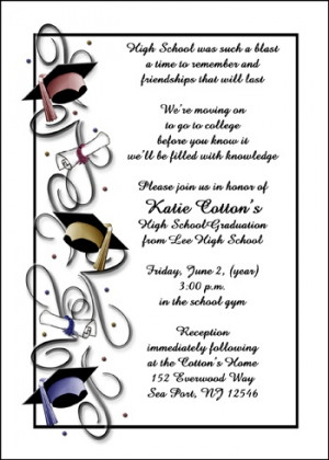 Graduation Announcement Cards and Announcements School Graduates