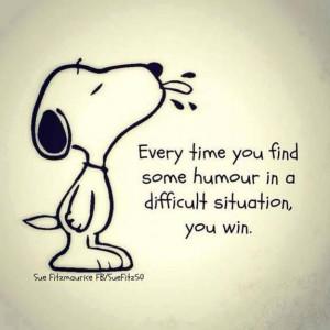 wisdom from snoopy!