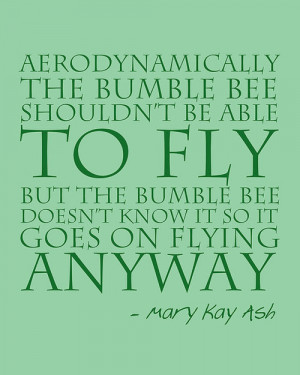 aerodynamically the bumble bee shouldnt be inspirational life quotes