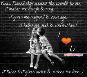 Friendship Quote Cute Kids Wallpaper | Friends Kissing Quotes ...