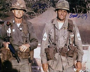 LTC Hal Moore and SGM Basil L. Plumley