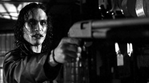 Brandon Lee as Eric Draven in The Crow.