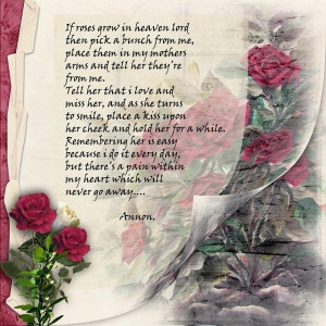Happy Birthday Poems for Mom Who Passed Away