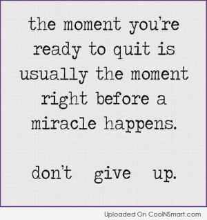 Quotes and Sayings about Giving Up