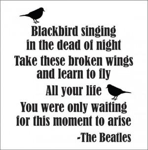 blackbird beatles song lyrics happy birthday beatles quote wholesale ...