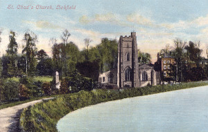 St Chad 39 s Church Lichfield c1910 postcard