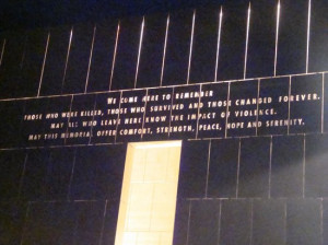 Oklahoma City National Memorial & Museum: Entrance Gate and Quote