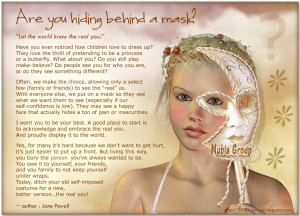 quotes about hiding behind a mask