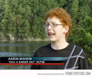 funny ginger kid glasses
