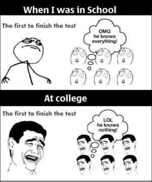 Funny MEME – School vs. College