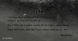 Grey's anatomy Quotes ((Fear)) by EngiGen