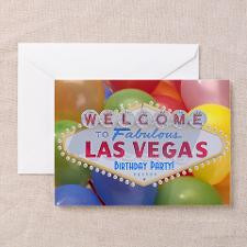 Las Vegas Birthday Party! Cards Pk of 10 for