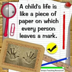 jpg-quotes-about-children-a-childs-life-is-like-a-piece-of-paper-on ...