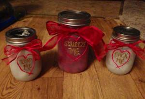 Loaded gun by Tyler Hilton inspired mason jars. Moonshine cherries in ...