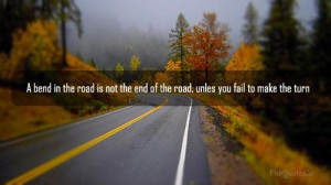 End of the road quote