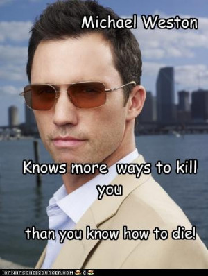 Michael Weston... Burn Notice!
