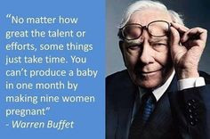 great quote by Warren Buffet! Have a productive week ...