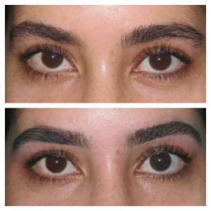 Before& after eyebrow threadingEyebrows Thread, Bombs Brows
