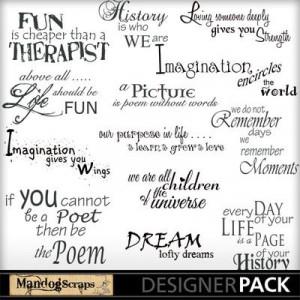 ... inspiring quotes! #MandogScraps #DIY #Craft #Scrapbook #Scrap Quotes