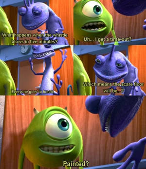 monsters, monsters inc, text, the persuit of happines