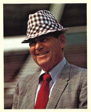 Bear Bryant, looking down from heaven, might have wanted to reuse one ...