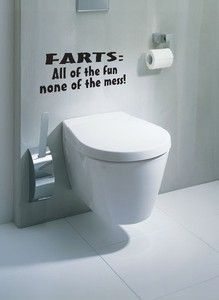 of funny joke quote wall art decal sticker vinyl bathroom toilet